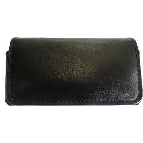 Housse simili cuir avec clip ceinture - noir