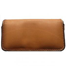 Housse simili cuir avec clip ceinture - marron