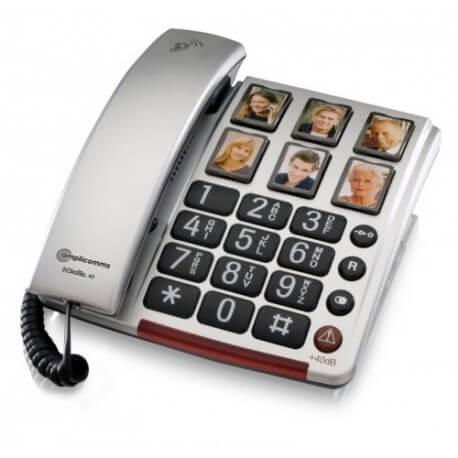 Amplicomms BigTel 40 plus - téléphone amplifié - seniors - malentendants