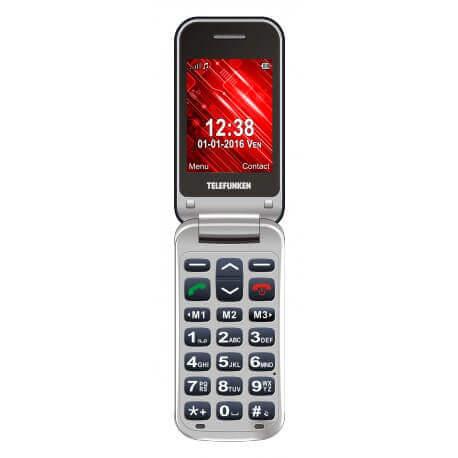 Telefunken TM 210 IZY - Téléphone seniors - Téléphone à clapet