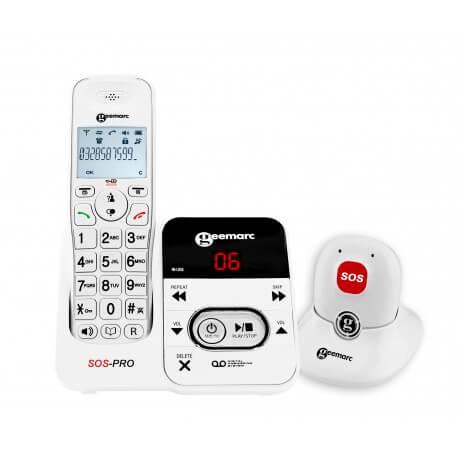Geemarc Amplidect 295 SOS Pro - téléphone fixe avec médaillon