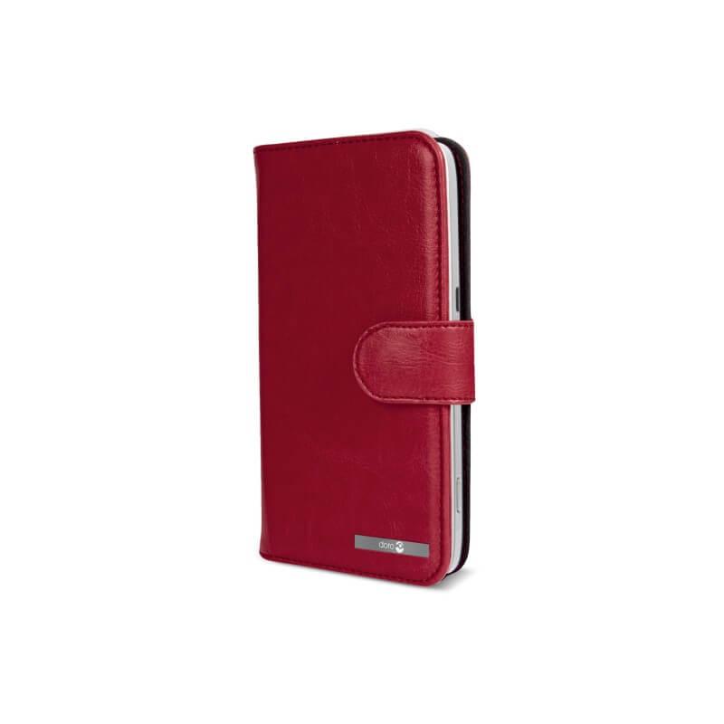 Housse portefeuille doro 8031 rouge bazile telecom for Housse illinois